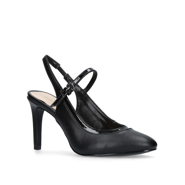 Harper Nine West Black High Heel Court Shoes
