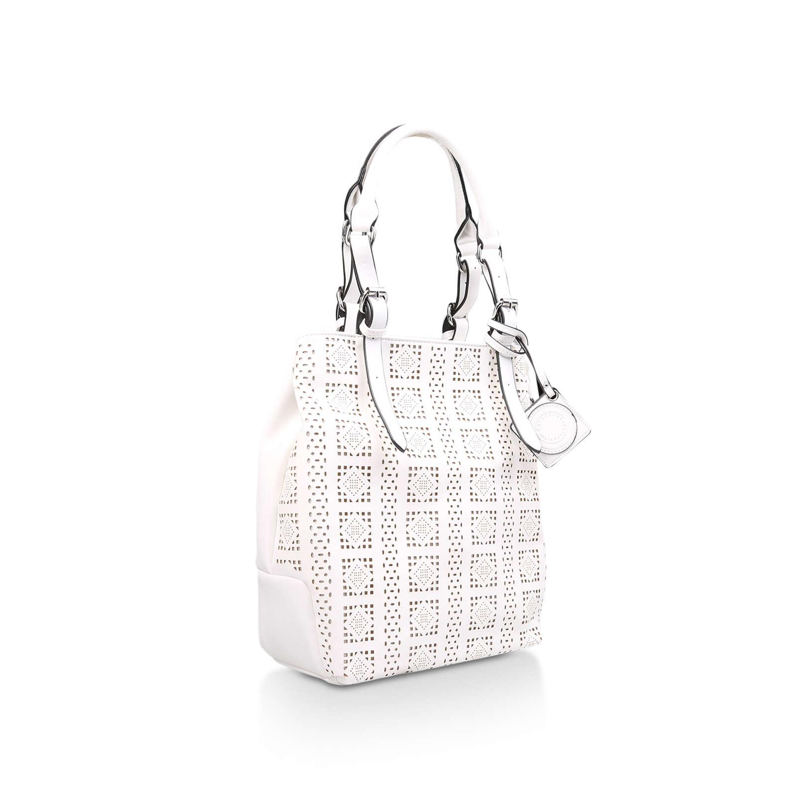 VIOLET Catherine Malandrino Violet White Handbag by