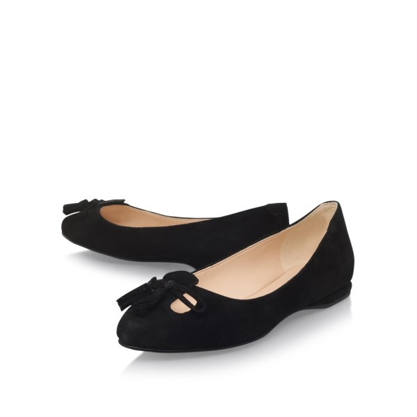Simily Nine West Black Suede Flats