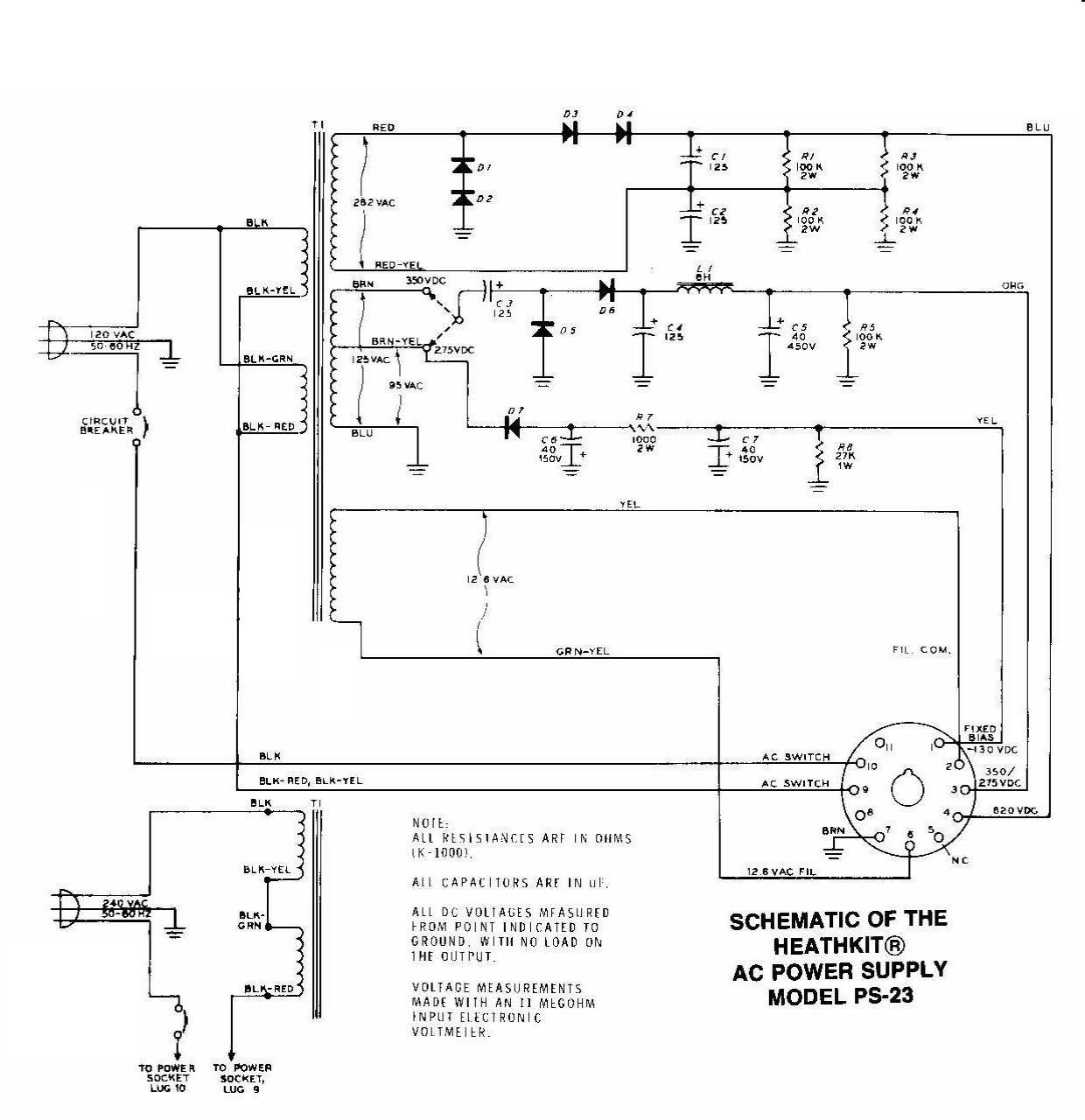 hight resolution of  ps 23 ac power supply schematic
