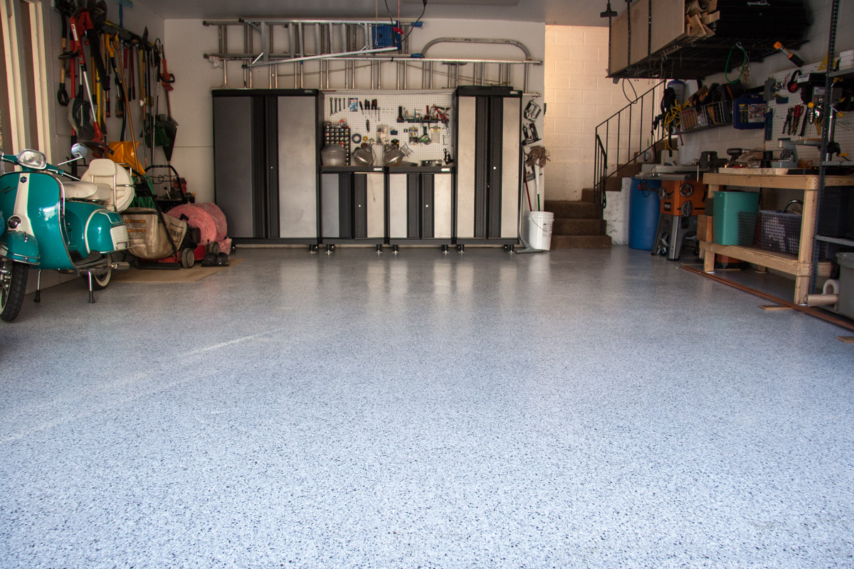 Cottonwood Heights Utah Garage Epoxy Floor Coating - Full View