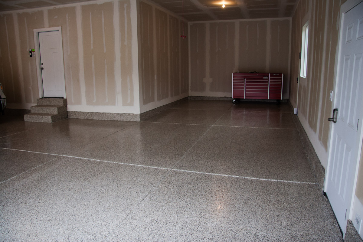4 Car Garage Epoxy Floor Coating Utah