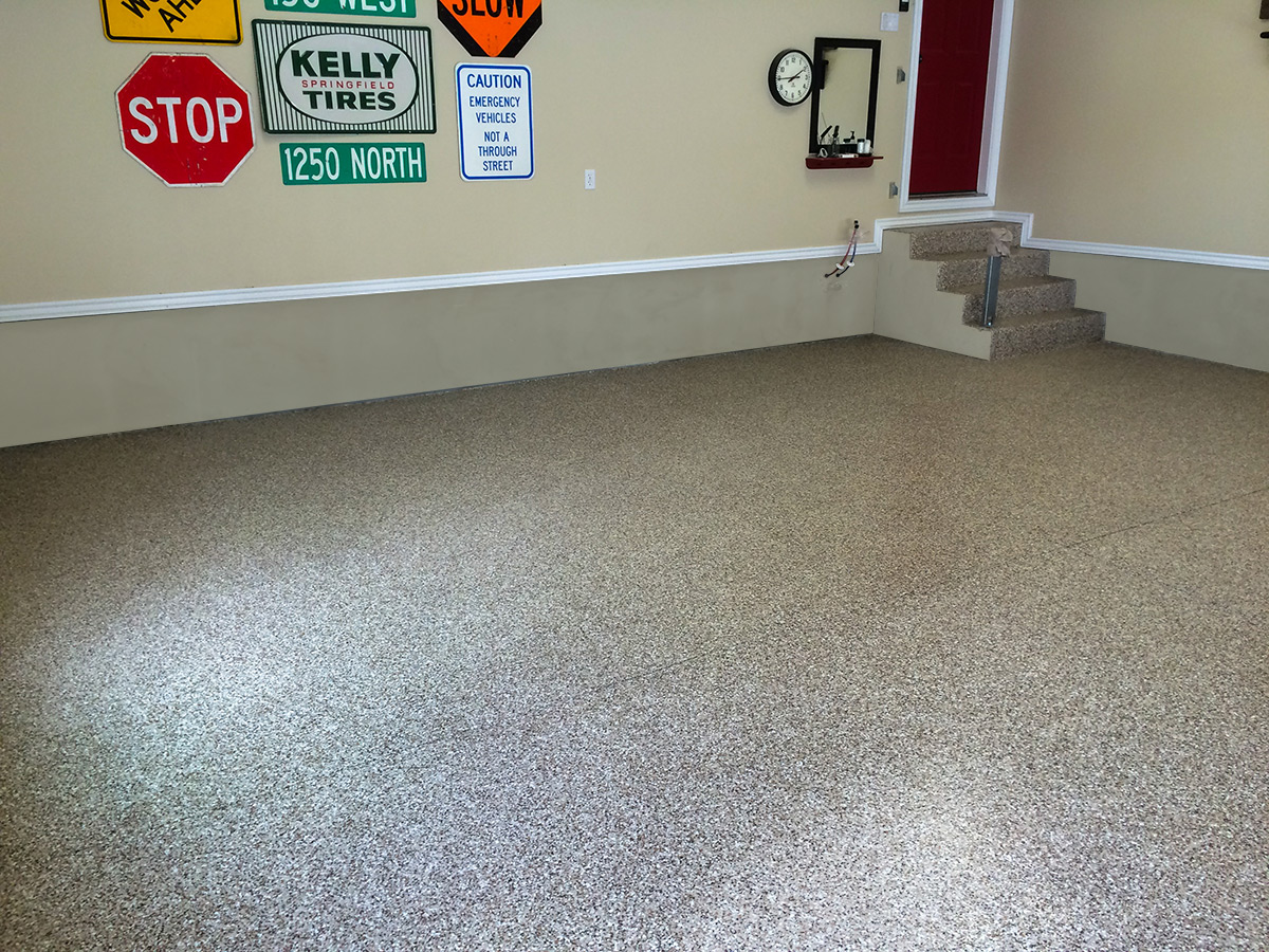 2 Car Garage Epoxy Floor  Coating