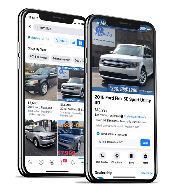 Facebook Marketplace Search Results Vehicle Page