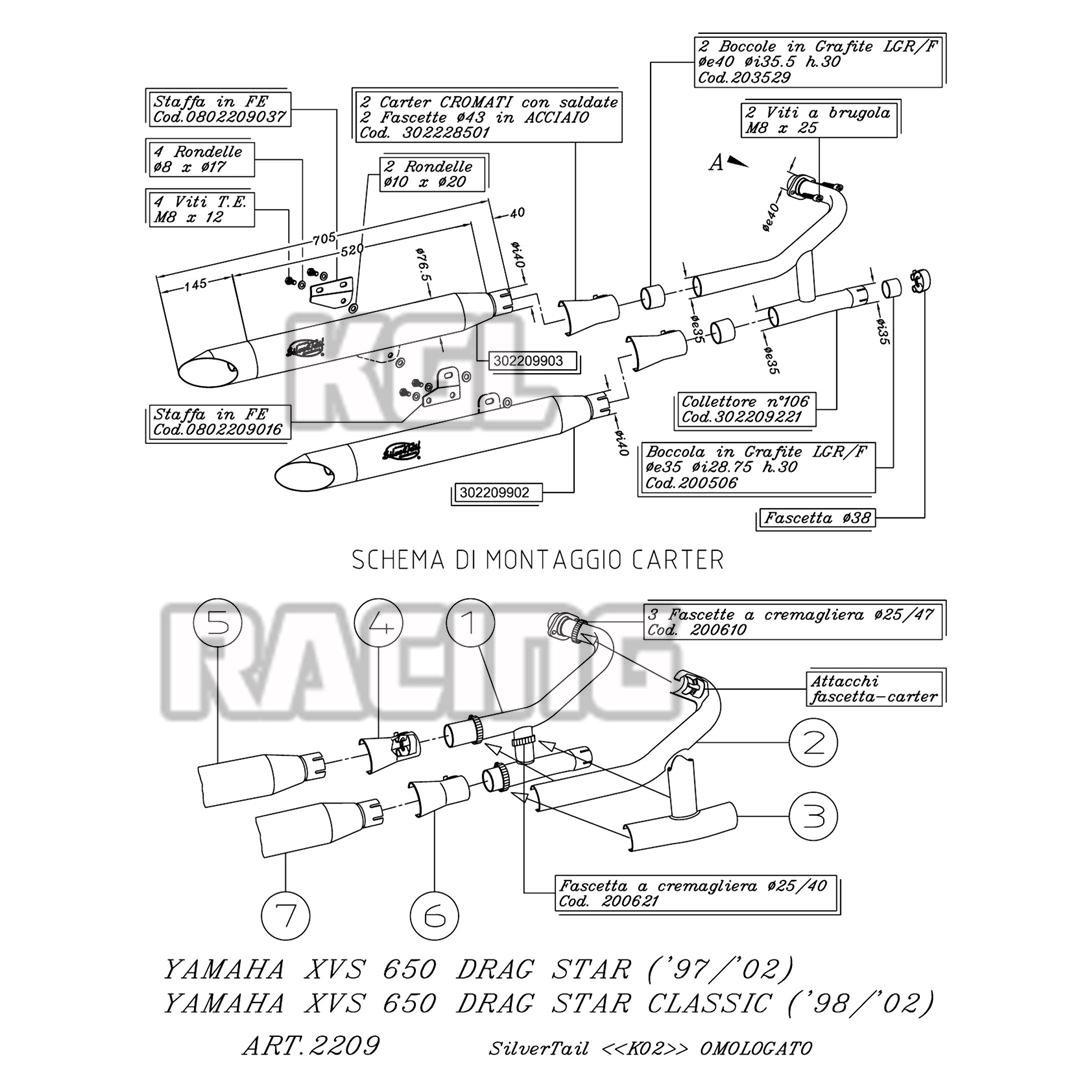 XVS 650 DRAGSTAR : La boutique moto en ligne
