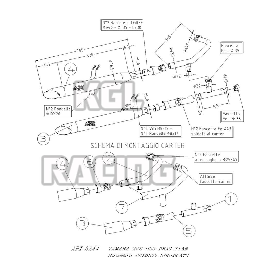 XVS 1100 DRAGSTAR : KGL Racing, de online motor shop voor
