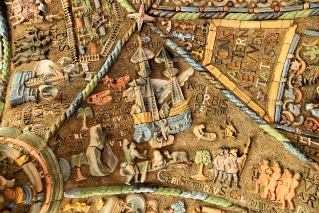 New World Tiles, Columbus Room Ceiling by Karl Graf.