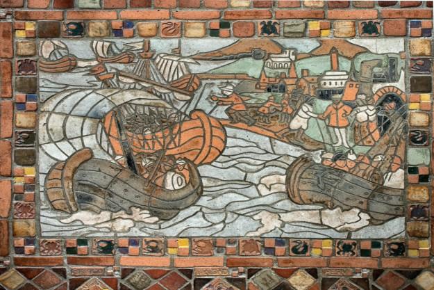 Columbus Voyage Mosaic, Columbus Room Floor by Karl Graf.