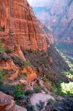 Steep trail on Angels Landing hike