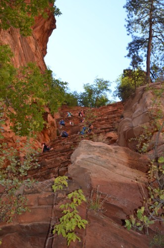 Walter's Wiggles - steep switchbacks on the Angels Landing hike