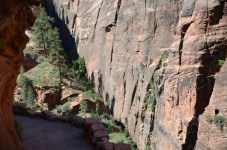 Heading back down on Angels Landing hike