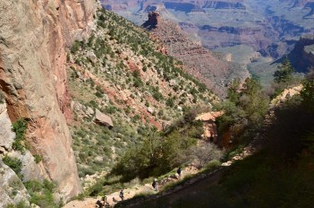 Hikers on the Bright Angel Trail