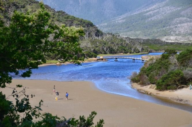Playing cricket at Tidal River