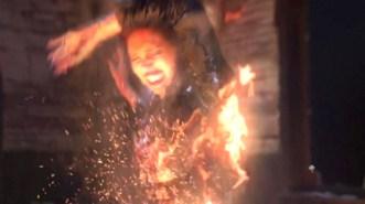 Abaddon on fire - Sacrifice (Season 8).