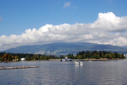 View of Stanley Park from downtown
