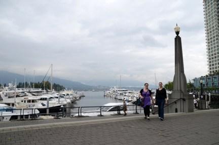 Katelyn & Monique at Coal Harbour.