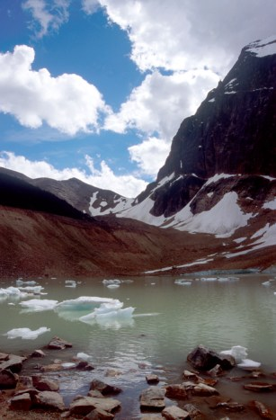 Melt water at the foot of Angel Glacier