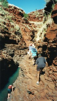 Hiking in Karijini NP, Western Australia