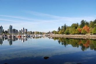 Cycling around Stanley Park in Vancouver