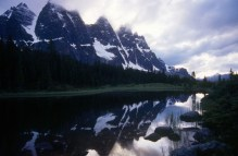 Dusk at Amethyst Lake in the Canadian Rockies