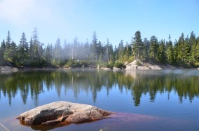 Mist over Cabin Lake