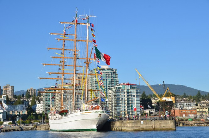 Tall Ship at Lonsdale Quay