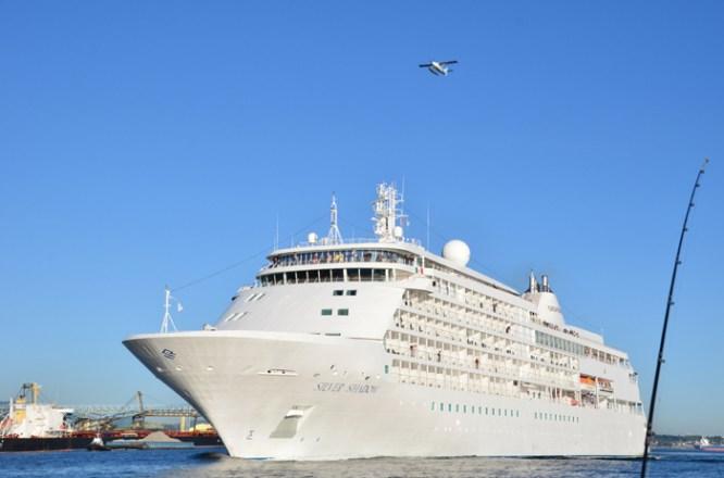 Cruise ship & float plane