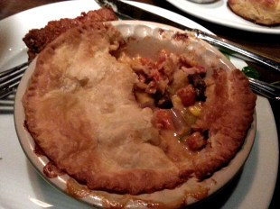 Lobster and crawfish pot pie