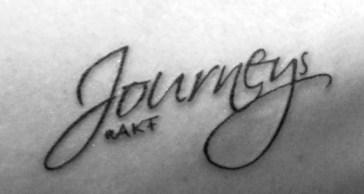 Karen's journeys tattoo