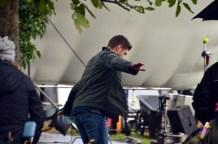 Jensen between takes