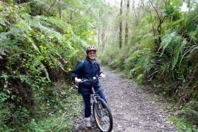 Lynn on the Walhalla Goldfields Rail Trail