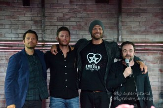 Misha Collins, Jensen Ackles, Jared Padalecki and Mark Sheppard