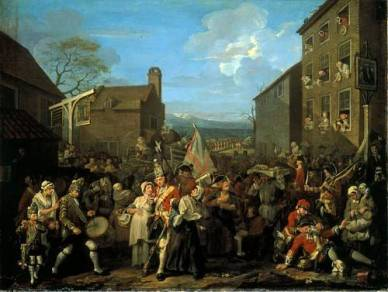 Hogarth, March to Finchley
