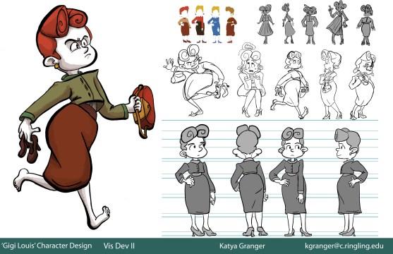 Gigi Louis Character Design