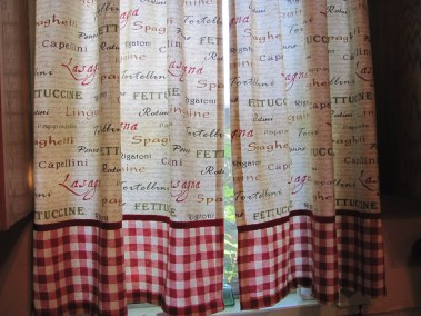My kitchen curtains, just because.