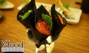 《義郎創作壽司》鮭魚軟手捲與蝦軟手捲
