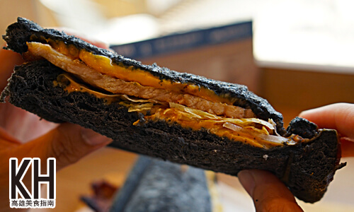 《鬍子茶》黑黑的竹炭麵包很特別