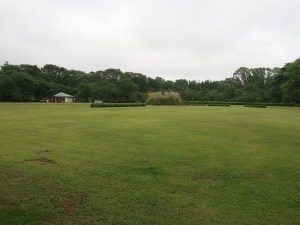 Large lawn in Jindai botanical garden