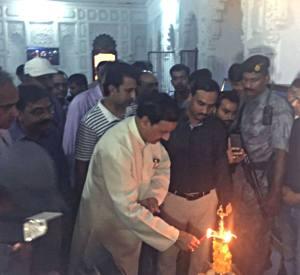 1 अगस्त का दिने वाराणसी के मानमहल मंदिर में टूरिज्म प्रदर्शनी के उद्घाटन करत केन्द्र में संस्कृति राज्यमंत्री डा. महेश शर्मा