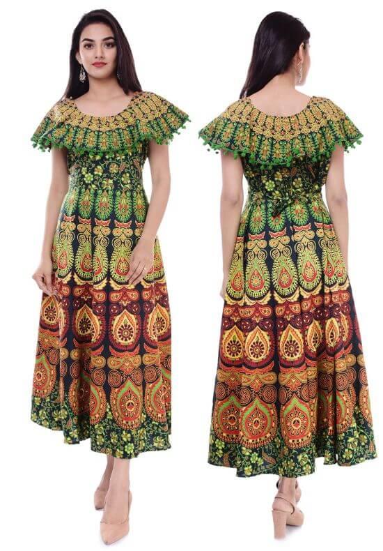 Dhruvi Traditional Cotton Long Kurta for Women 2