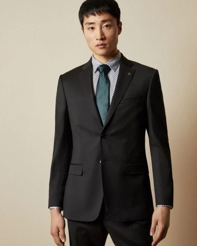 FRANCJ - Debonair slim fit wool jacket Black