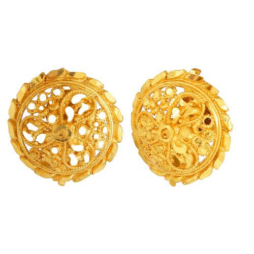 GoldNera South Indian Style Ethnic Ear Studs-GE281Gold
