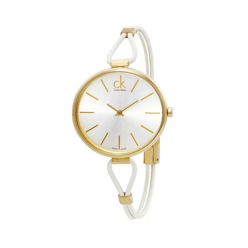 Ladies Leather Cord & Gold Watch