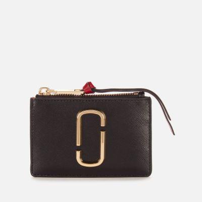 Marc Jacobs Women's Top Zip Multi Wallet – Black Chianti