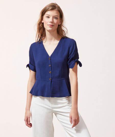 NONOTie-sleeve blouse