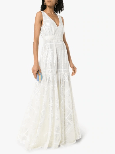 Sequinned Maxi Gown