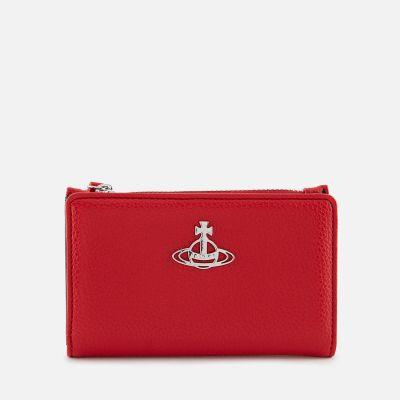 Vivienne Westwood Women's Johanna Slim Flap Card Holder - Red