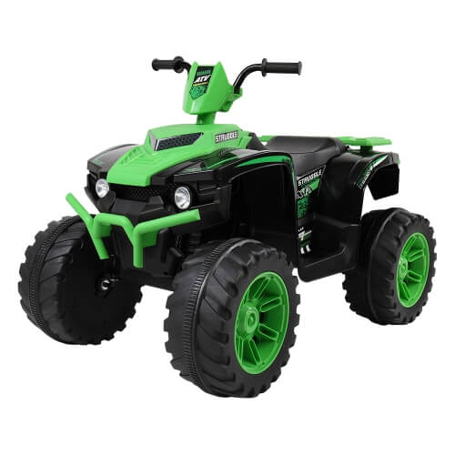 12V Kids Children Double Drive Ride On Car Electric Car ATV Quad Toy Terrain Vehicle (Green)