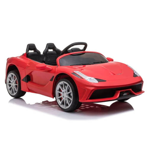 12V Kids Ride On Car 2.4GHz Remote Control Double Drive 3 Speed Sports Car (Red)