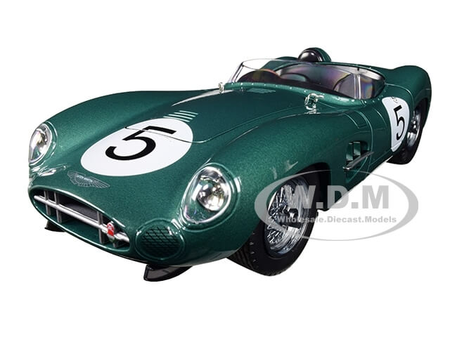 1959 Aston Martin DBR1 #5 Green 1-18 Diecast Model Car by Shelby Collectibles